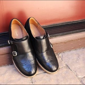 Clarks Zyris Vienna double monk shoes NWOB